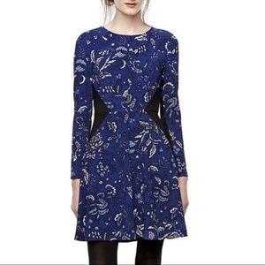 Thakoon A Line Skater Dress Blue Paisley Size 14